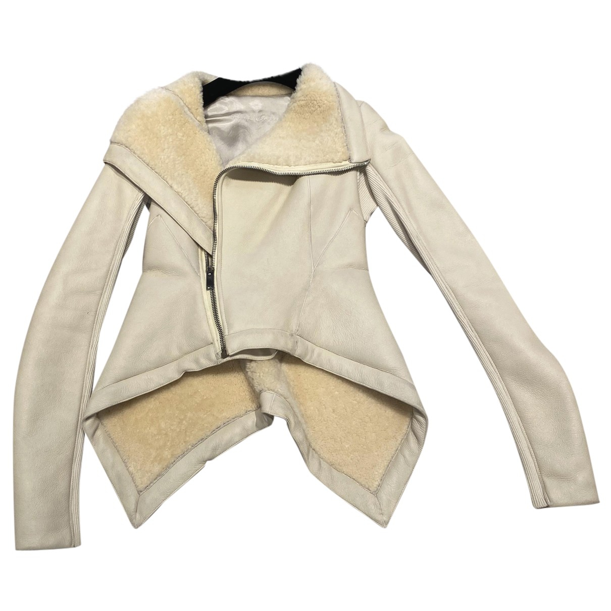 Rick Owens N Beige Leather Leather jacket for Women 40 IT