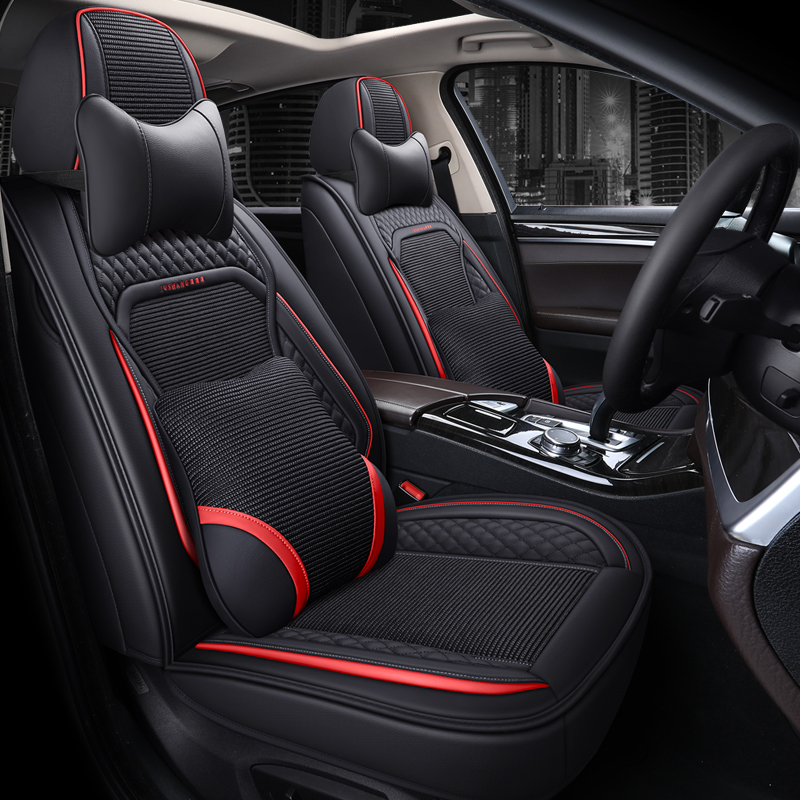 Breathable Fabric Wear-resistant Leather Materials Wear-resisting Scratch No Peculiar Smell Fresh Breathable Not Stuffy Airbag Compatible 5-seater Uni