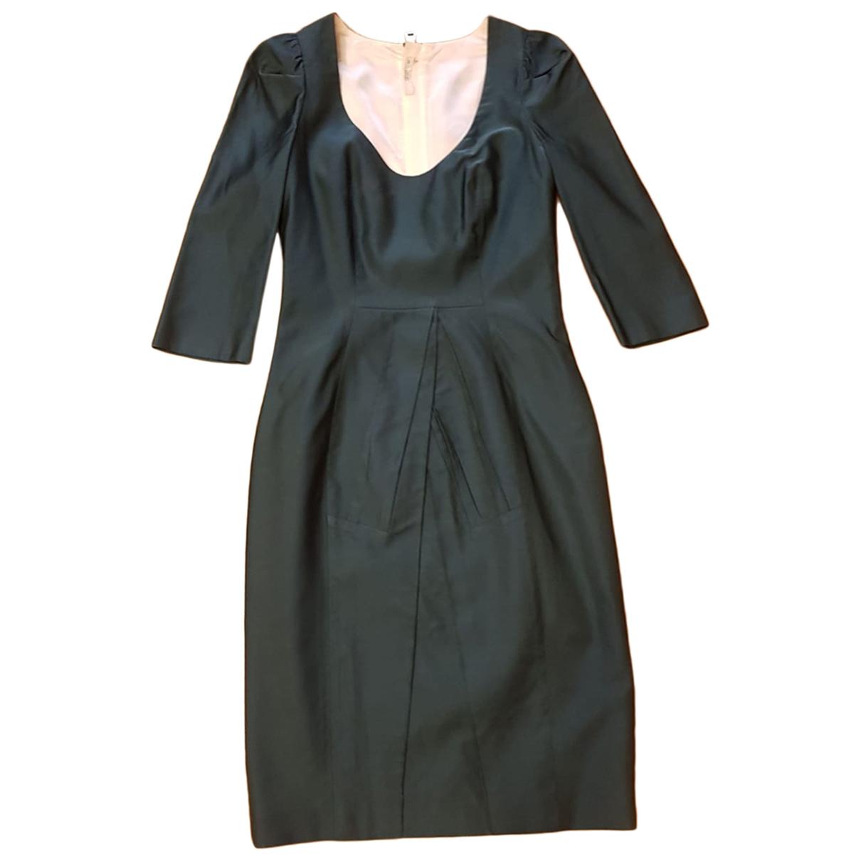 Prada \N Kleid in  Tuerkis Wolle