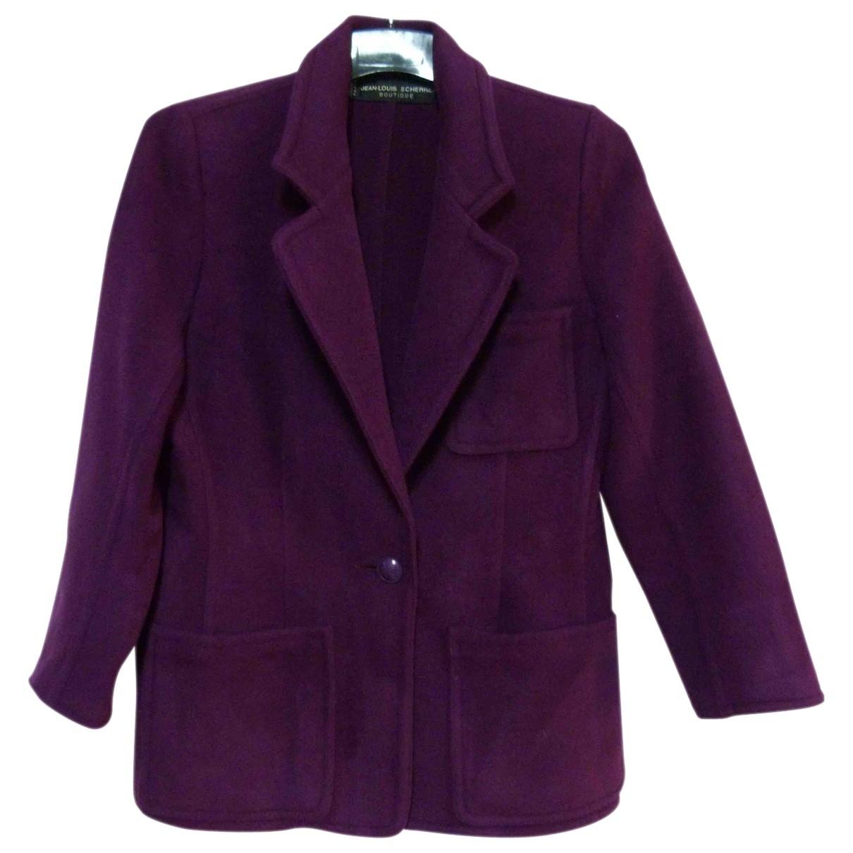Jean-louis Scherrer - Veste   pour femme en laine - violet