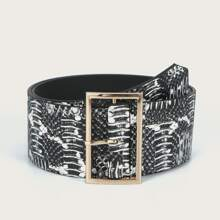 Graphic Square Buckle Belt