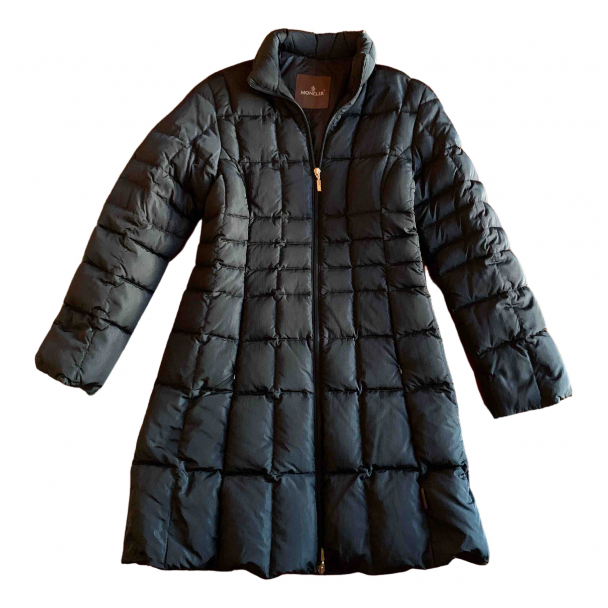 Moncler Long Black coat for Women 2 0-5