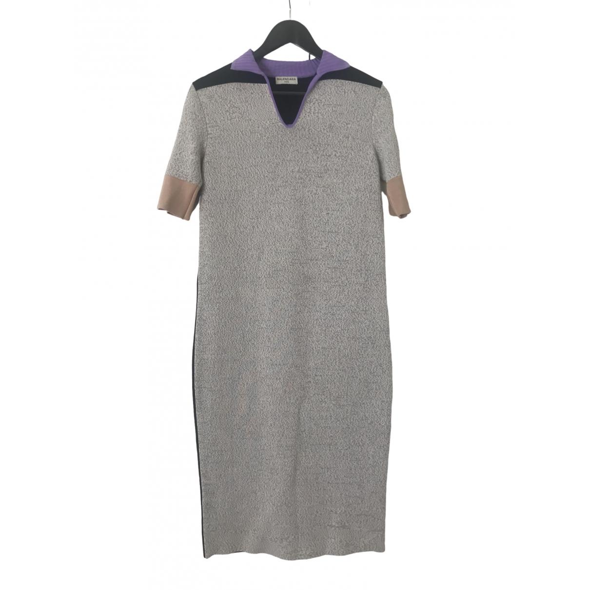 Balenciaga \N Kleid in  Anthrazit Polyester