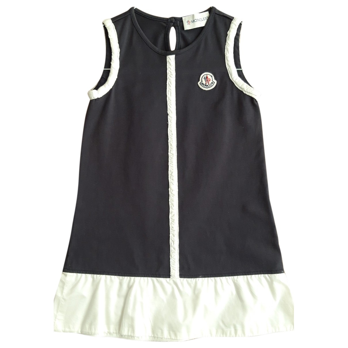 Moncler - Robe    pour enfant en coton - bleu
