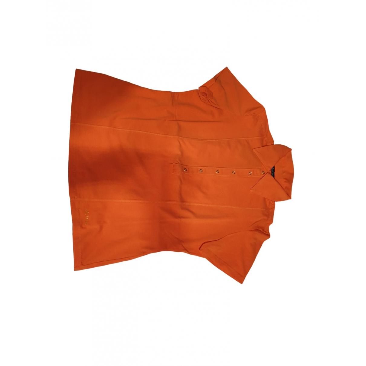 Elena Miro - Top   pour femme en coton - orange