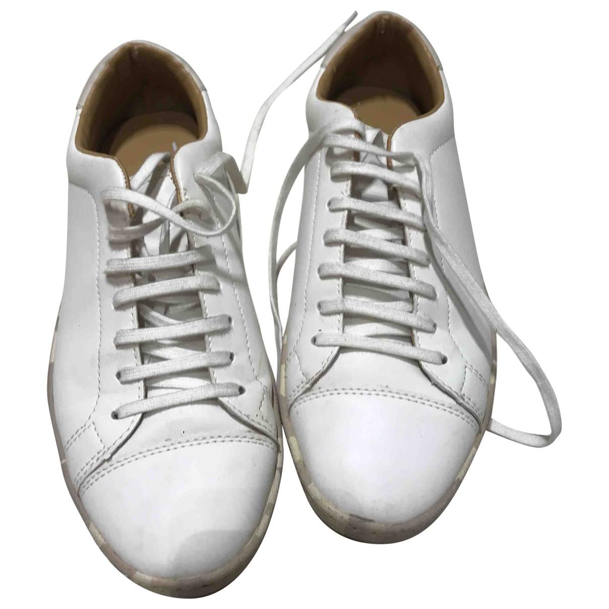 Zara \N White Leather Espadrilles for Men 42 EU