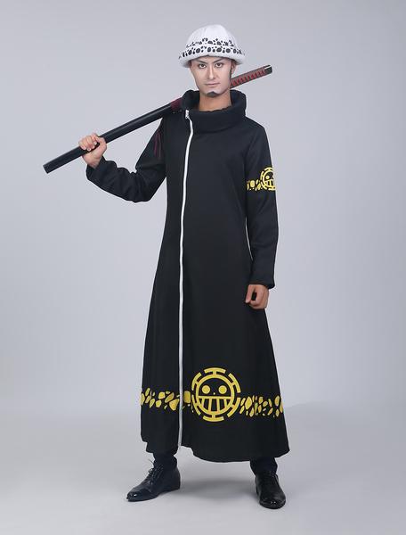 Milanoo One Piece Trafalgar Law Halloween Cosplay Costume