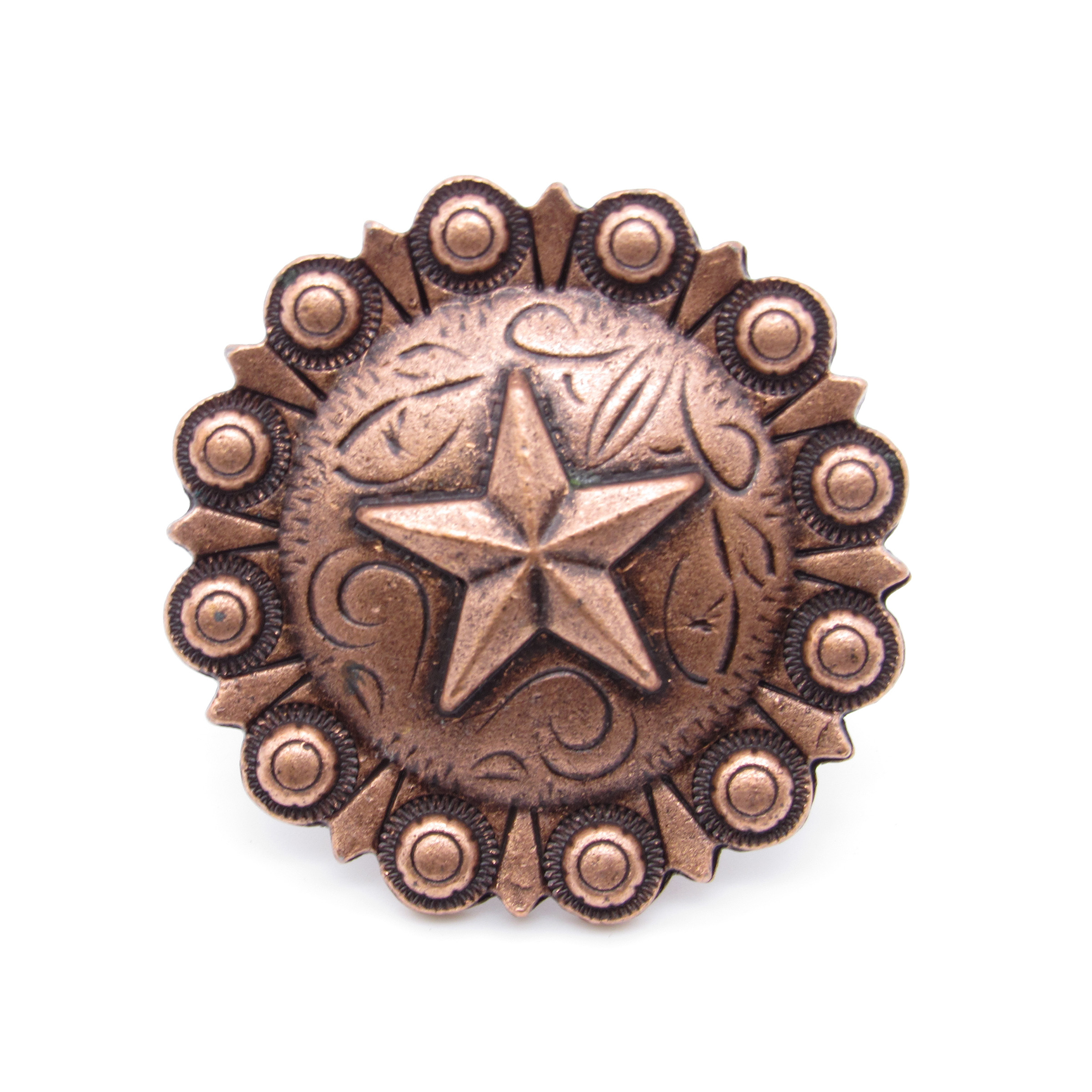 Star Clavo Decorative Nail, 8-Pack, Copper Oxide