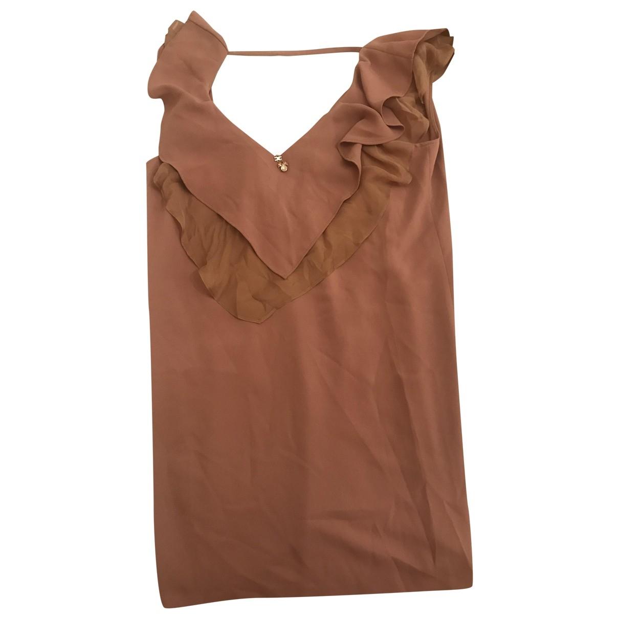 Elisabetta Franchi \N Kleid in  Beige Baumwolle