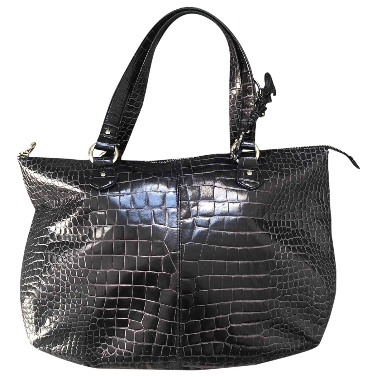 Oscar De La Renta \N Black Leather handbag for Women \N