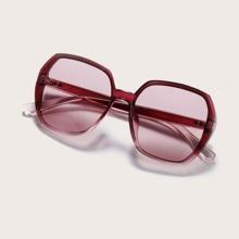 Geometric Frame Sunglasses