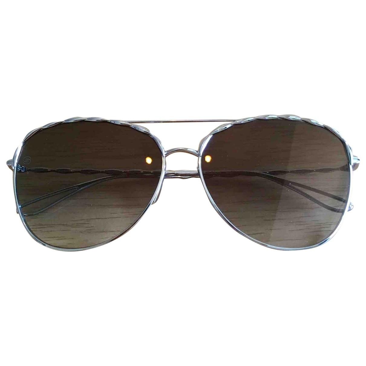 Elie Saab \N Sonnenbrillen in  Silber Metall
