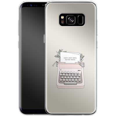 Samsung Galaxy S8 Silikon Handyhuelle - Dont Stop von Barlena