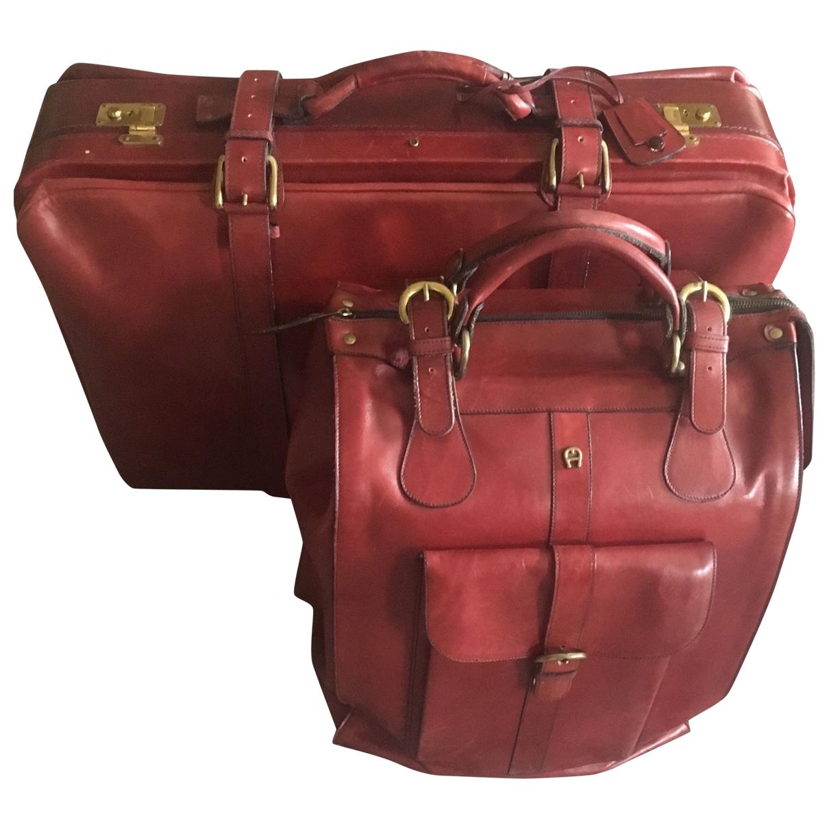 Etienne Aigner - Sac de voyage   pour femme en cuir - rouge