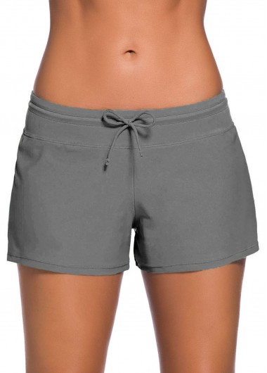 Bowknot Detail Side Slit Swimwear Short - M