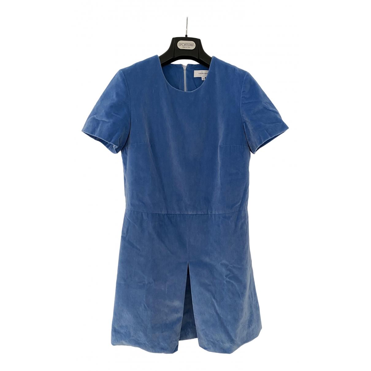 Carven \N Blue Velvet dress for Women 38 FR
