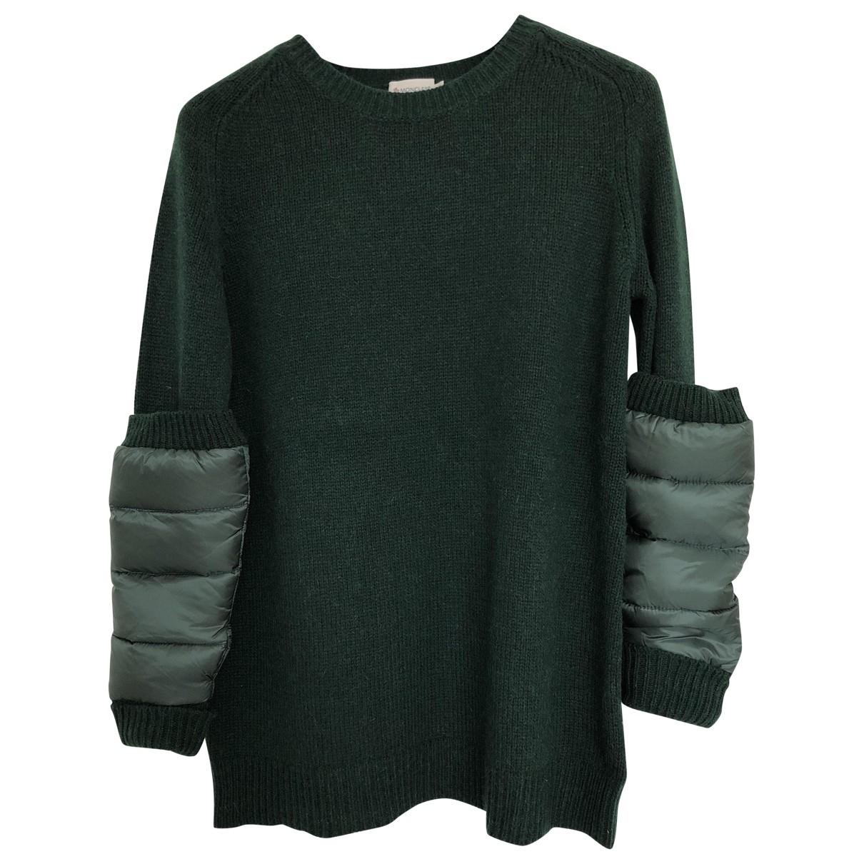 Moncler - Pull   pour femme en laine - vert