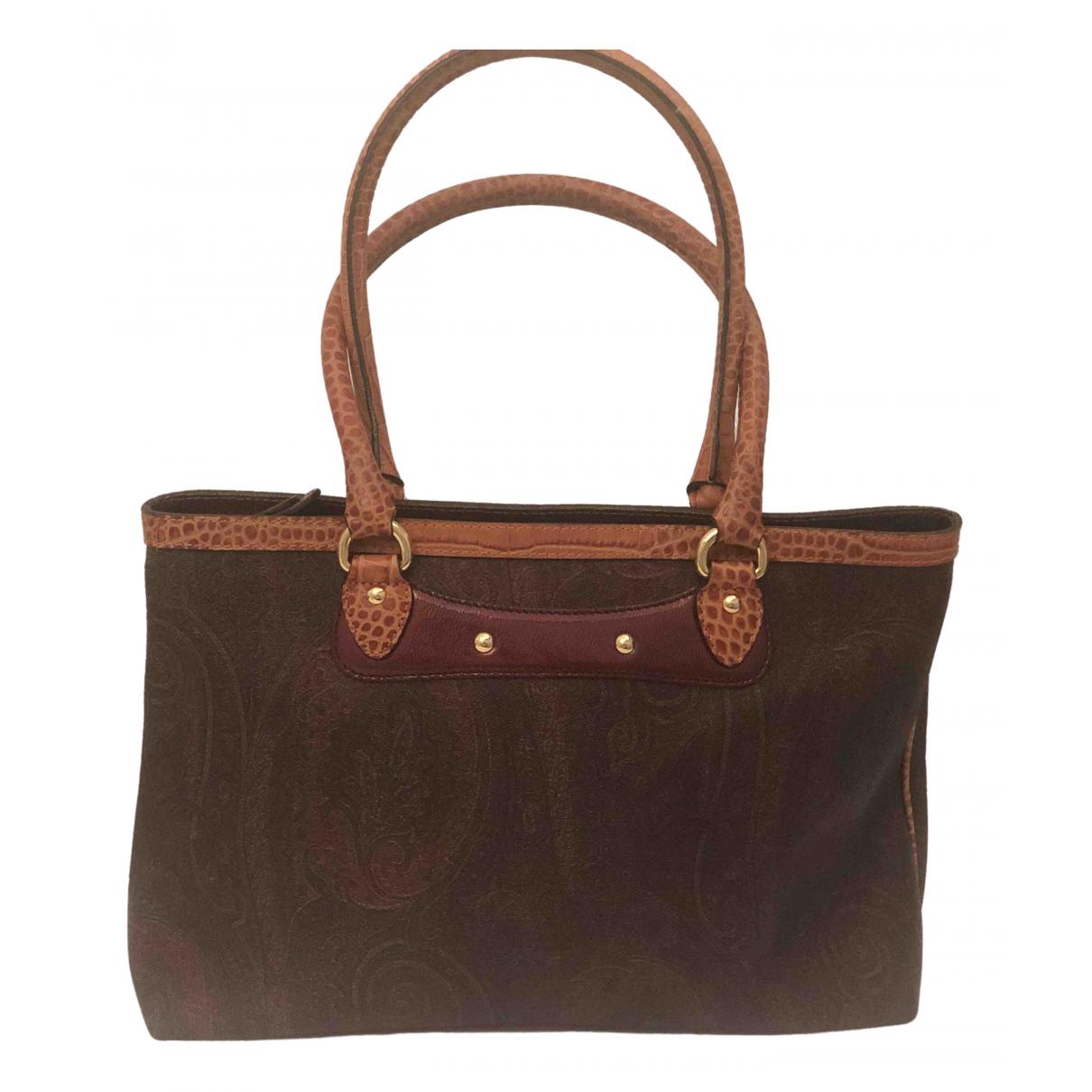 Etro \N Handtasche in  Braun Leder