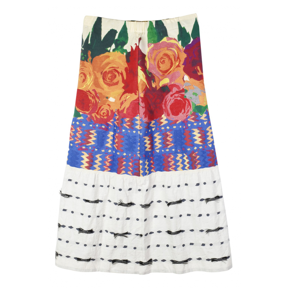 Issey Miyake \N Multicolour Cotton skirt for Women 14 UK