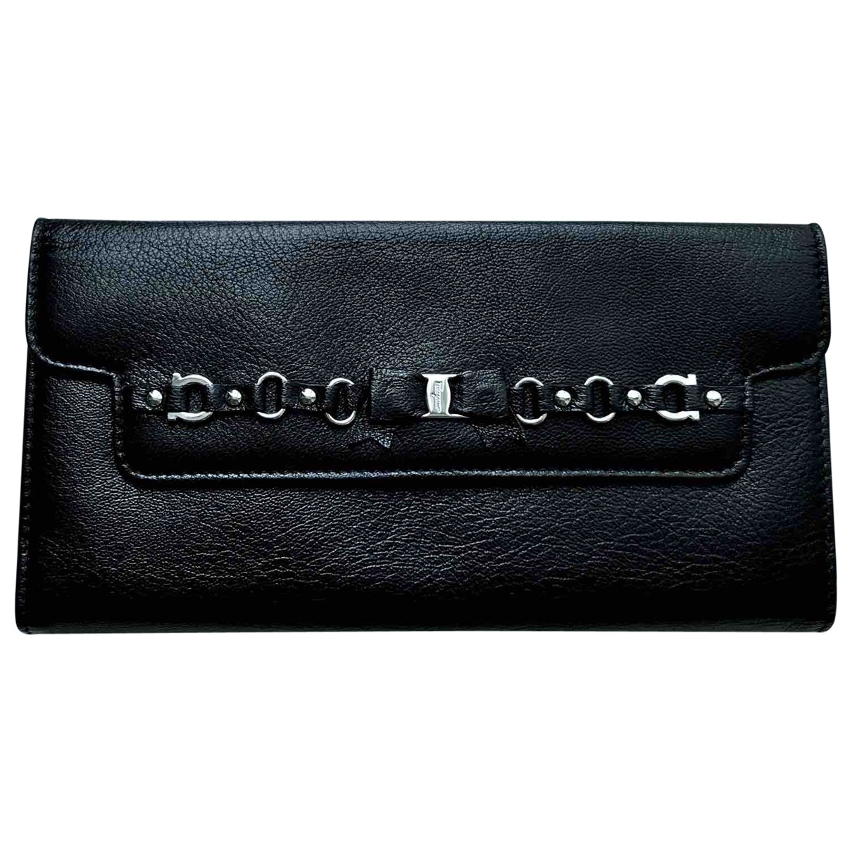 Salvatore Ferragamo \N Black Leather wallet for Women \N