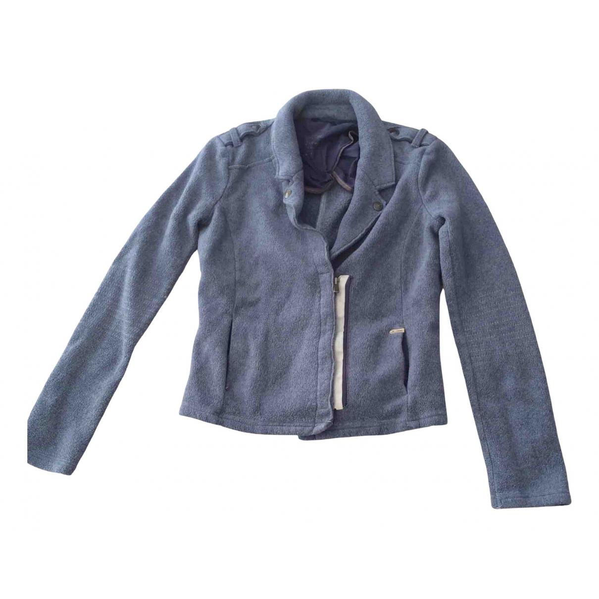 Ikks - Veste   pour femme en coton - bleu
