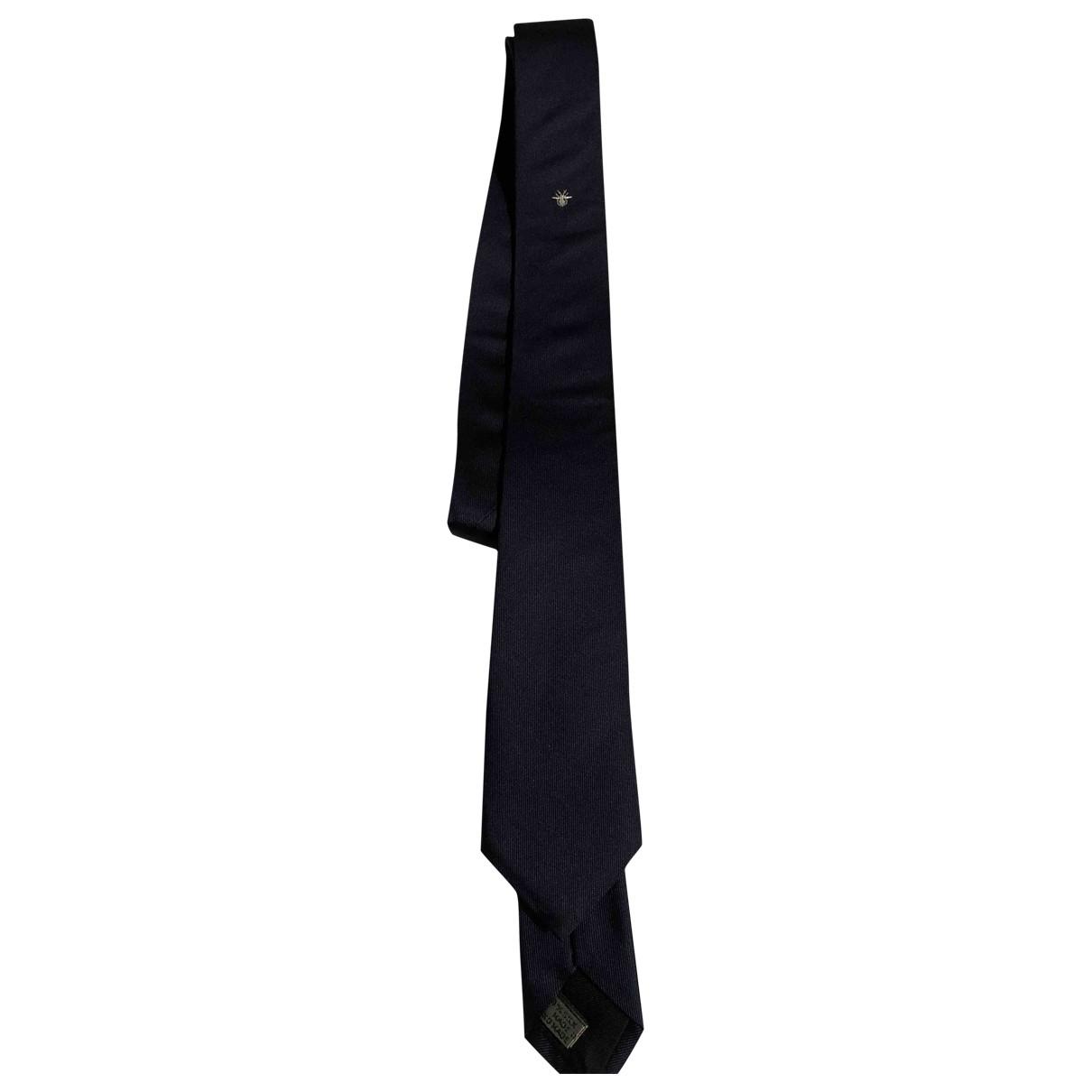 Dior Homme \N Navy Silk Ties for Men \N