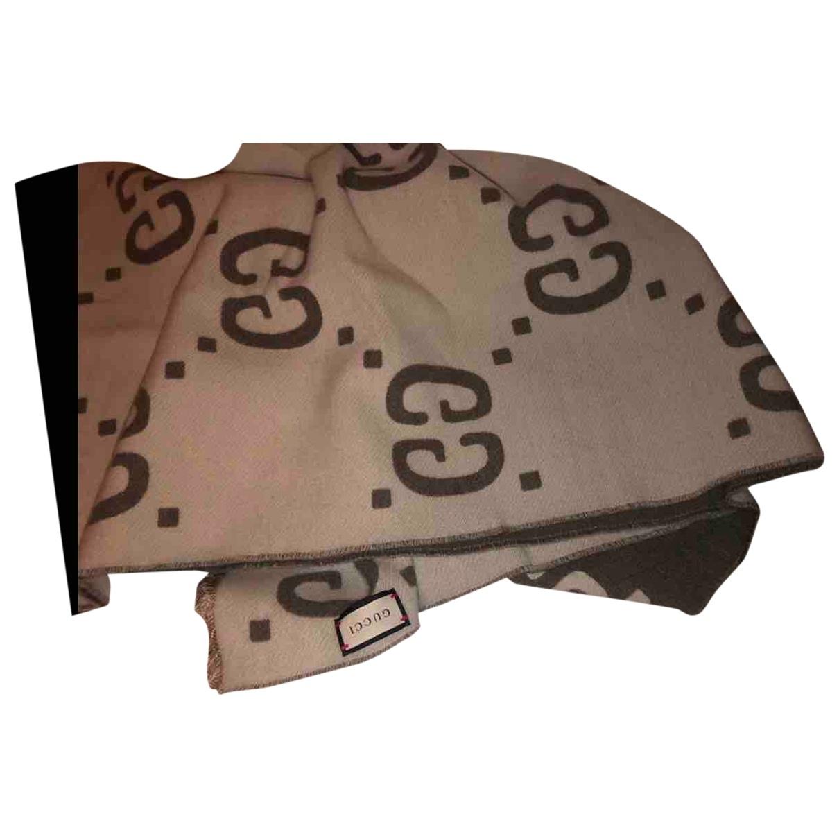 Gucci \N Beige Cotton scarf for Women \N