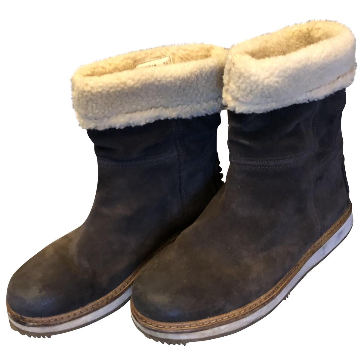Carshoe \N Beige Suede Boots for Men 42.5 EU
