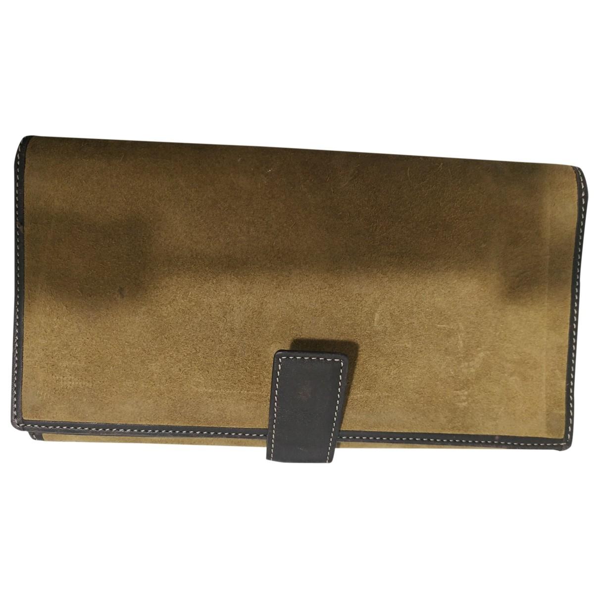 Loewe \N Beige Suede wallet for Women \N