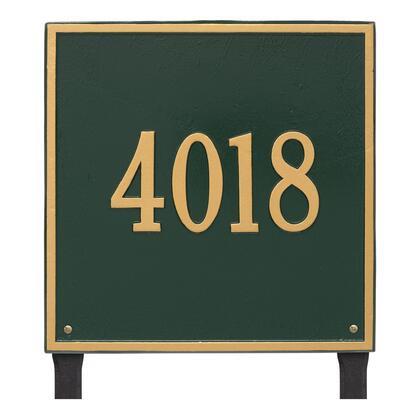 2119GG Personalized Square Plaque - Estate - Lawn - 1 line in