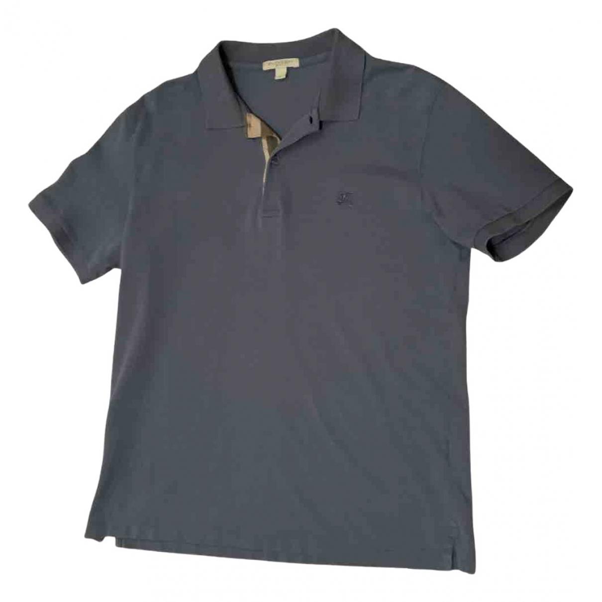 Burberry - Polos   pour homme en coton - gris