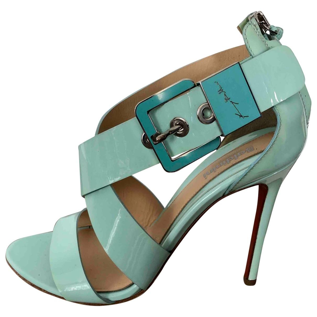 Baldinini \N Green Patent leather Heels for Women 38 EU