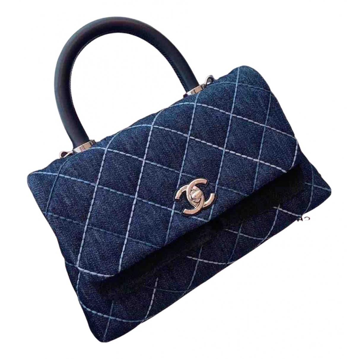 Chanel Coco Handle Blue Denim - Jeans handbag for Women N
