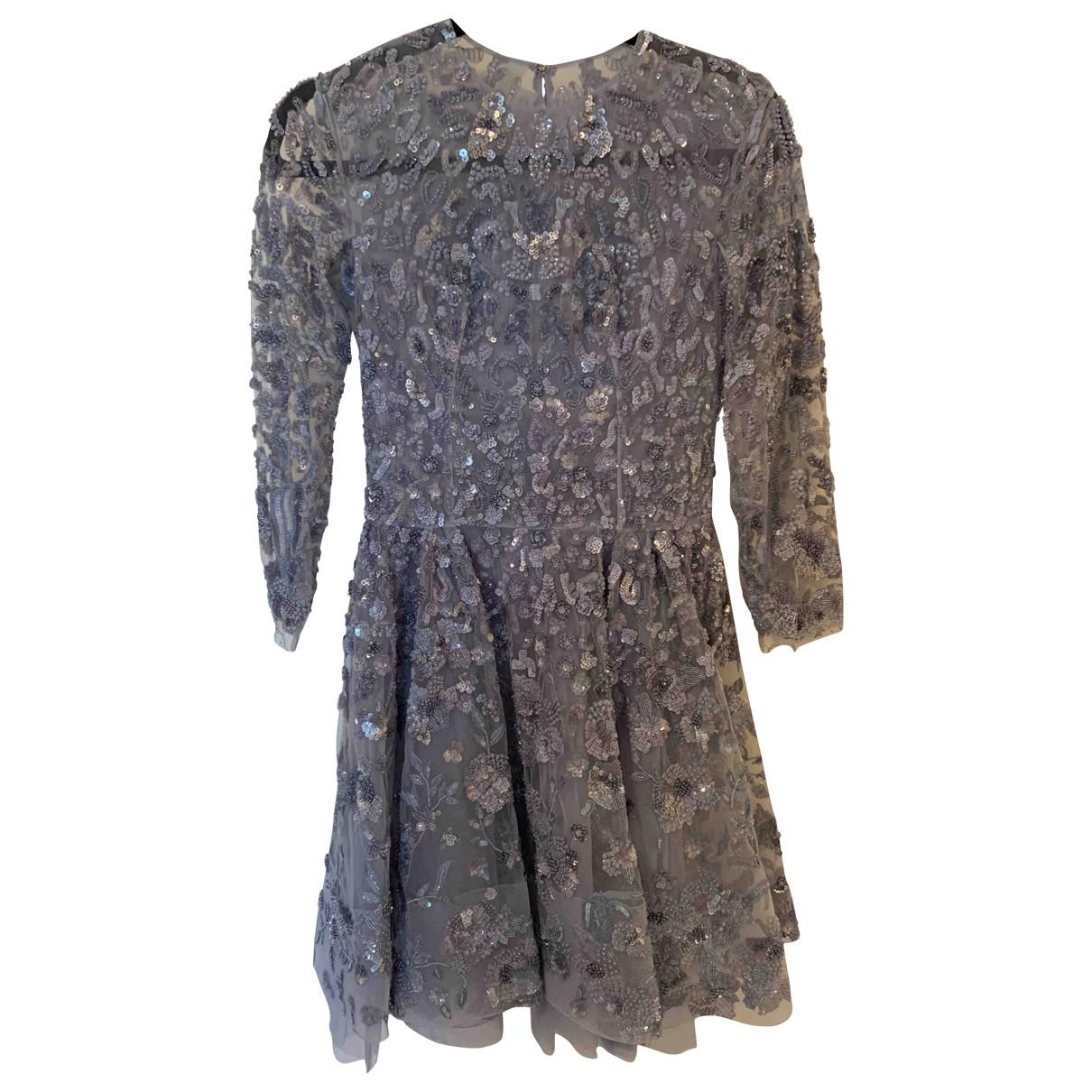 Zuhair Murad \N Blue Silk dress for Women 40 IT
