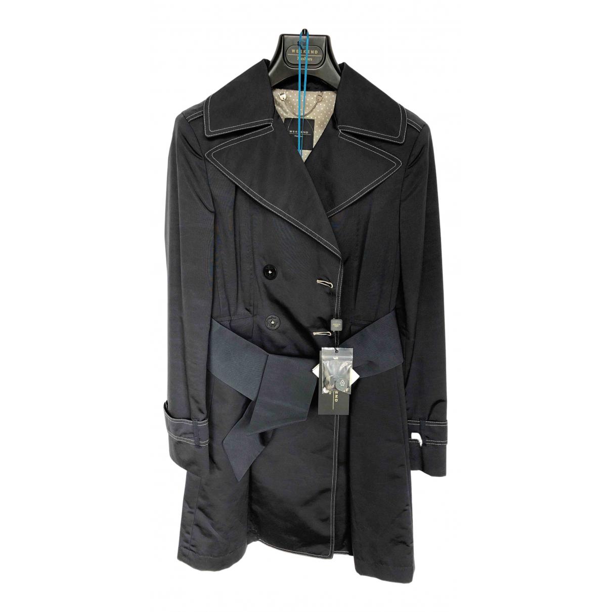 Max Mara Weekend N Navy Cotton coat for Women 8 UK