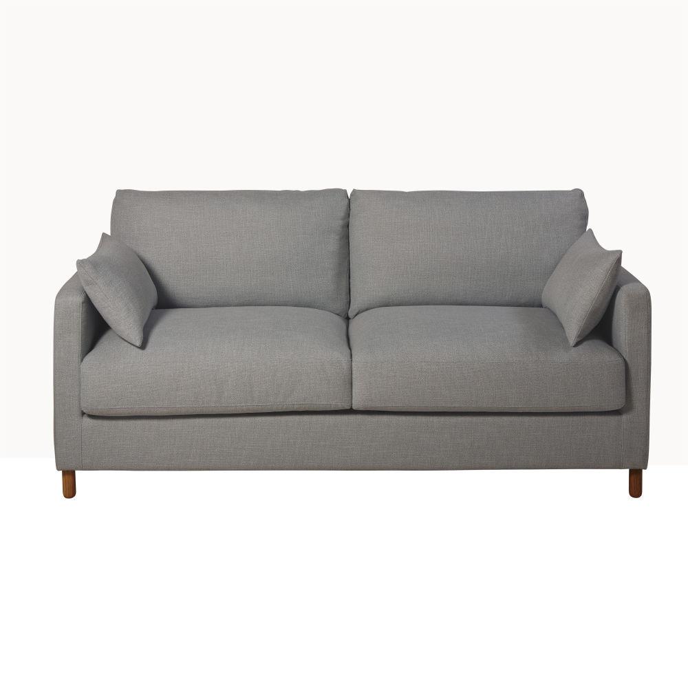 3-Sitzer-Schlafsofa, grau mit Matratze 14 cm Julian