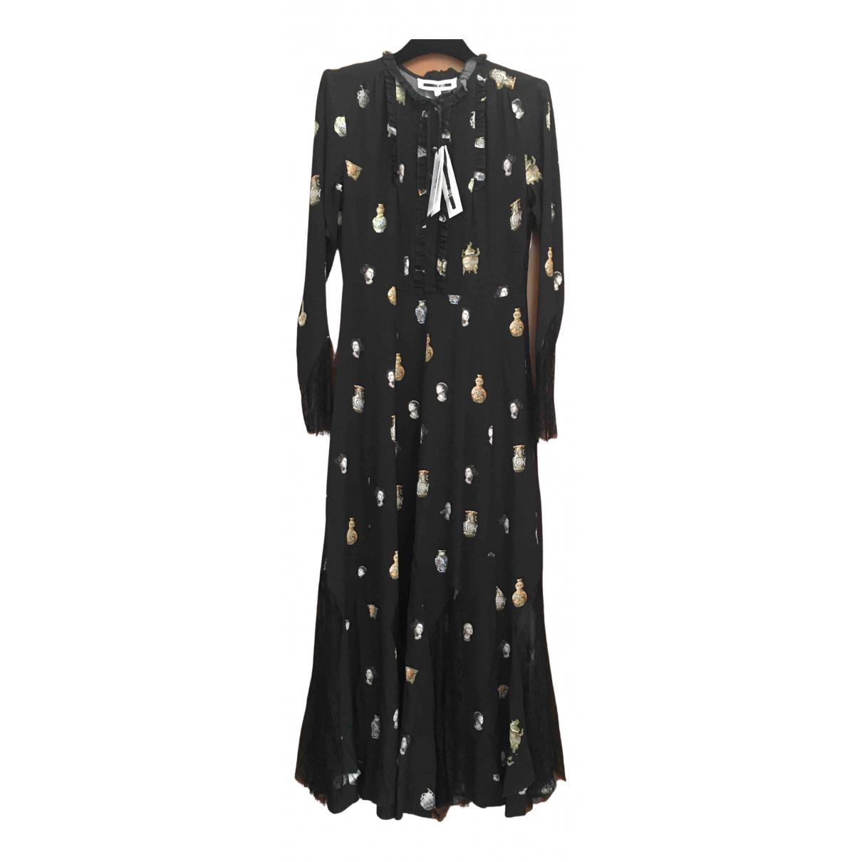Mcq \N Kleid in  Schwarz Seide