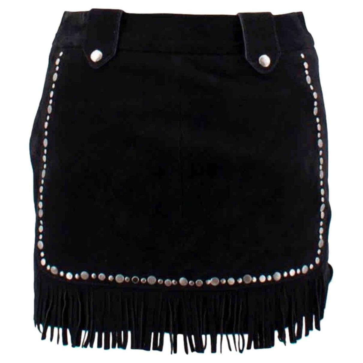 Maje \N Black Suede skirt for Women 38 FR