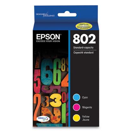 Epson T802 T802520 cartouche d'encre originale combo C/M/Y