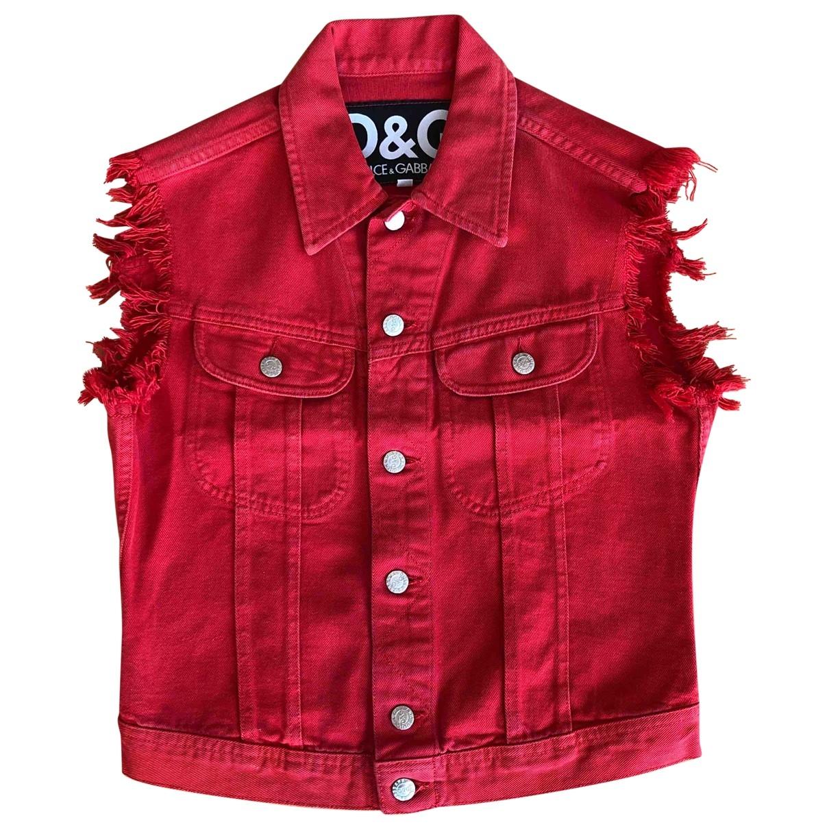 D&g \N Jacke in  Rot Baumwolle