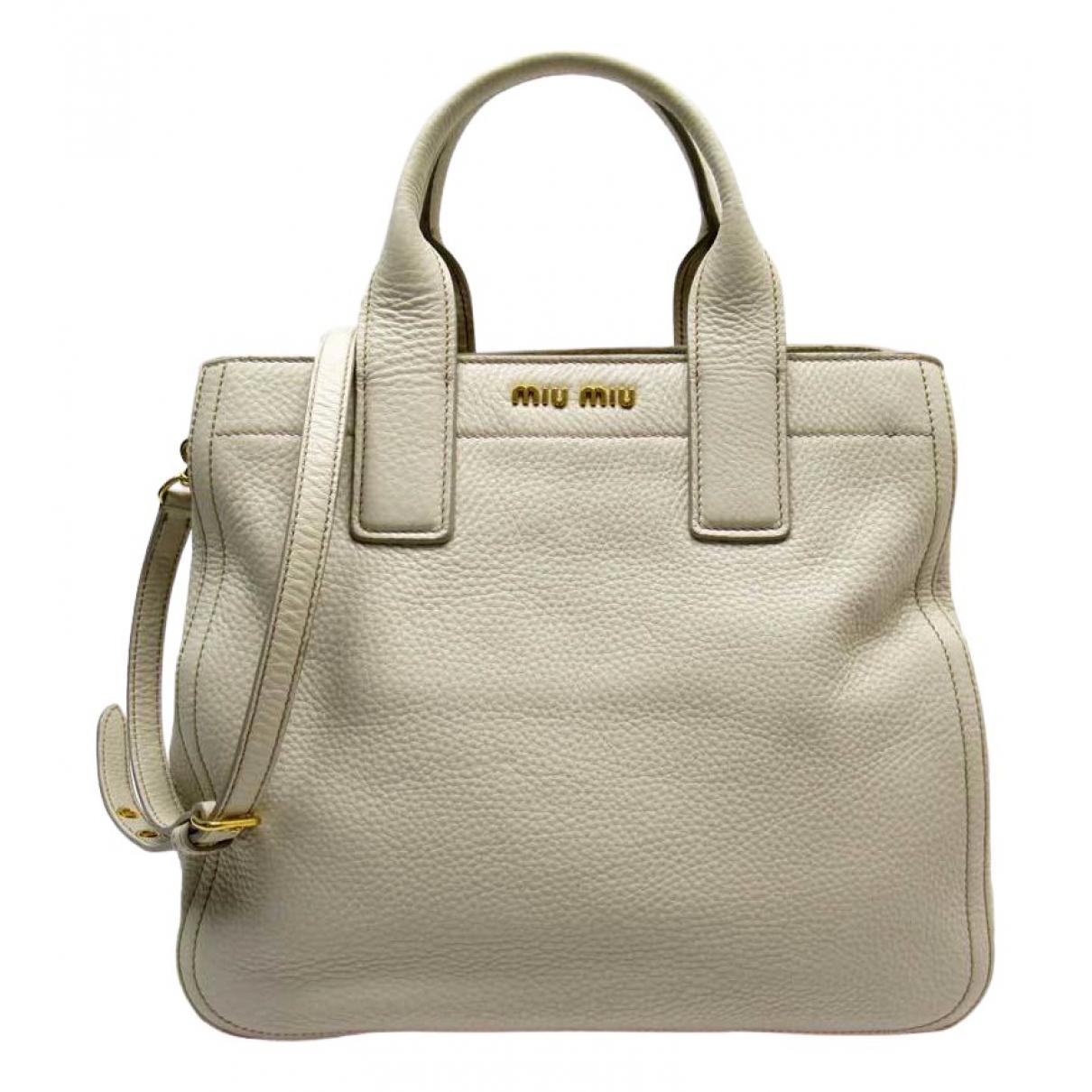 Miu Miu \N Ecru Leather handbag for Women \N