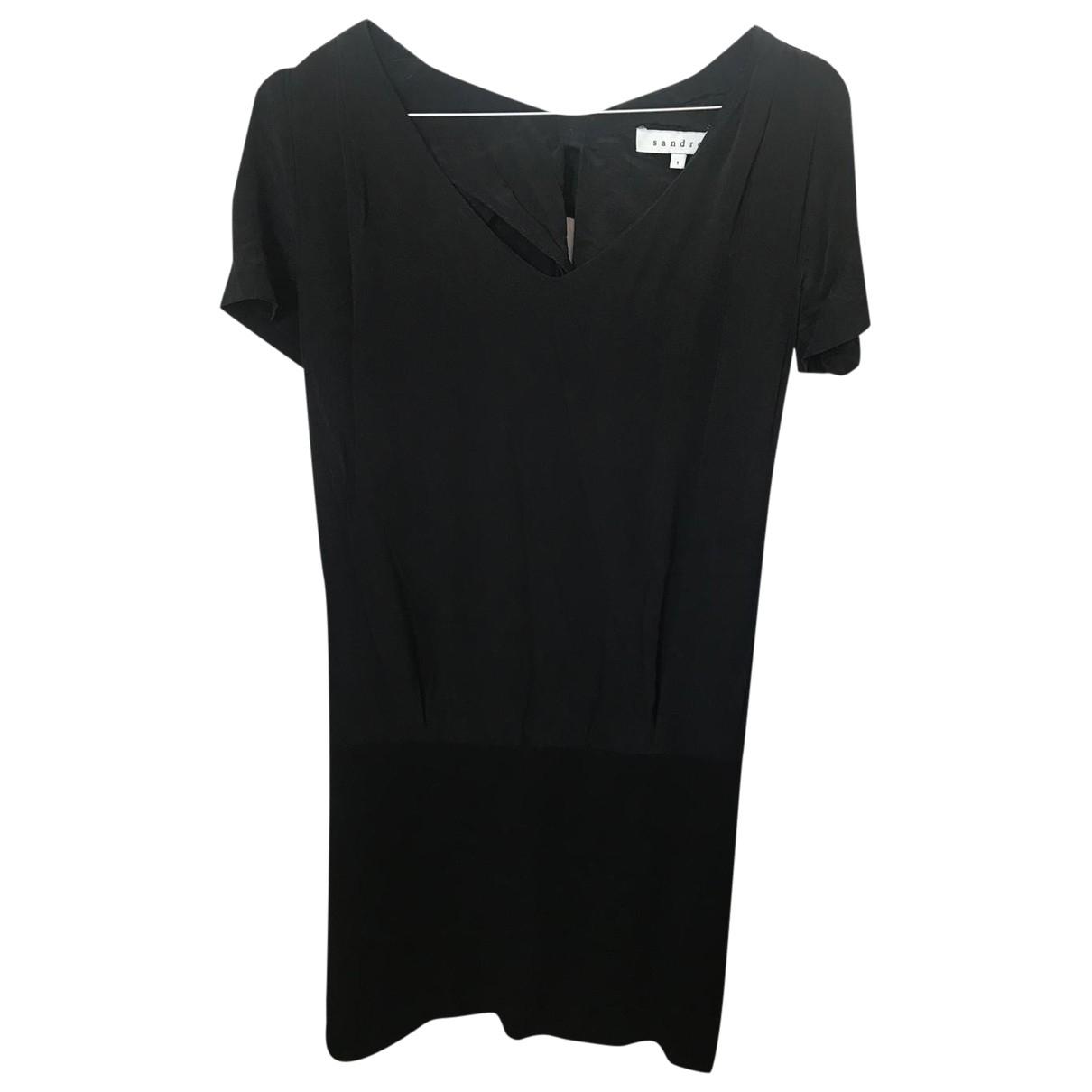 Sandro \N Kleid in  Schwarz Samt
