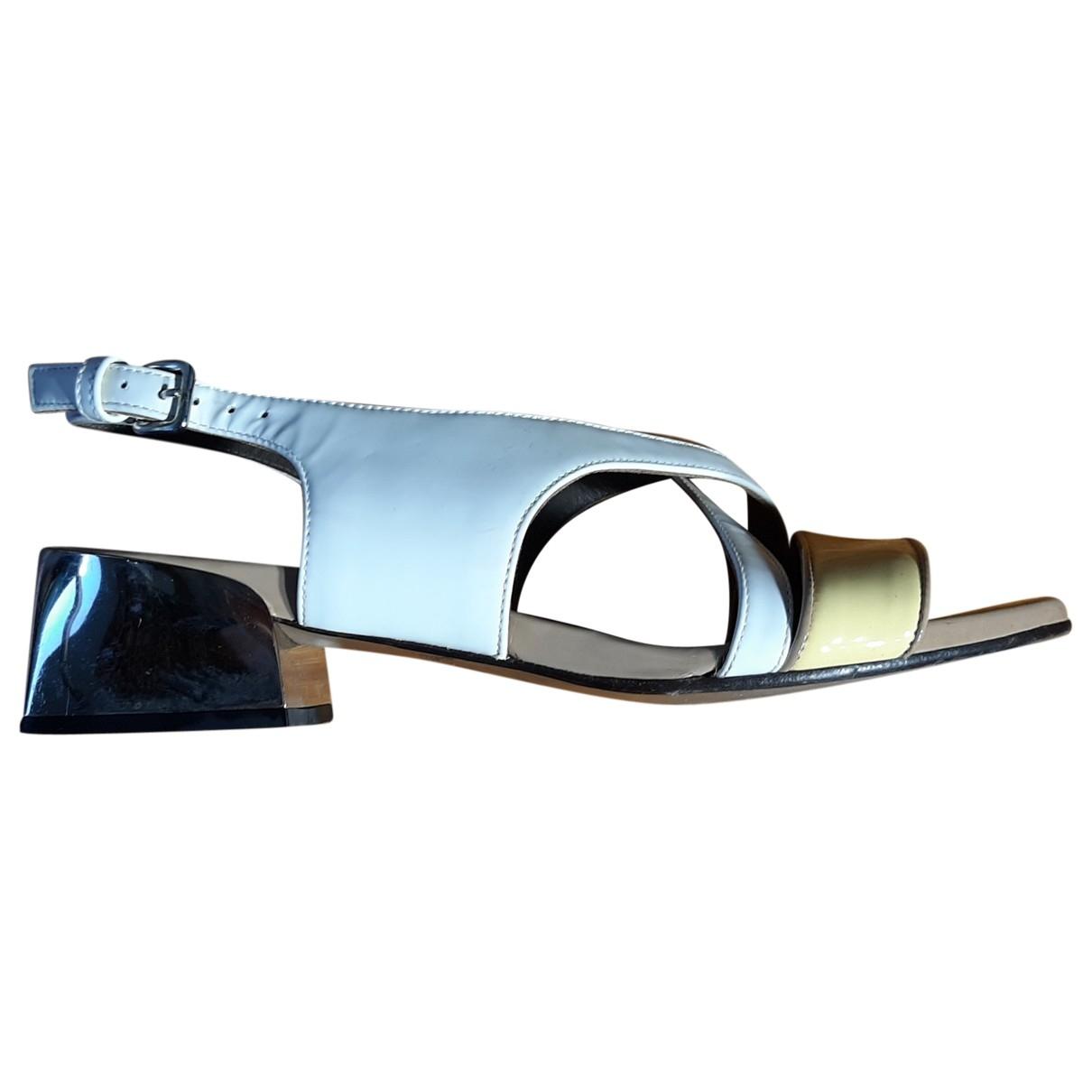Marni - Sandales   pour femme en cuir verni - multicolore