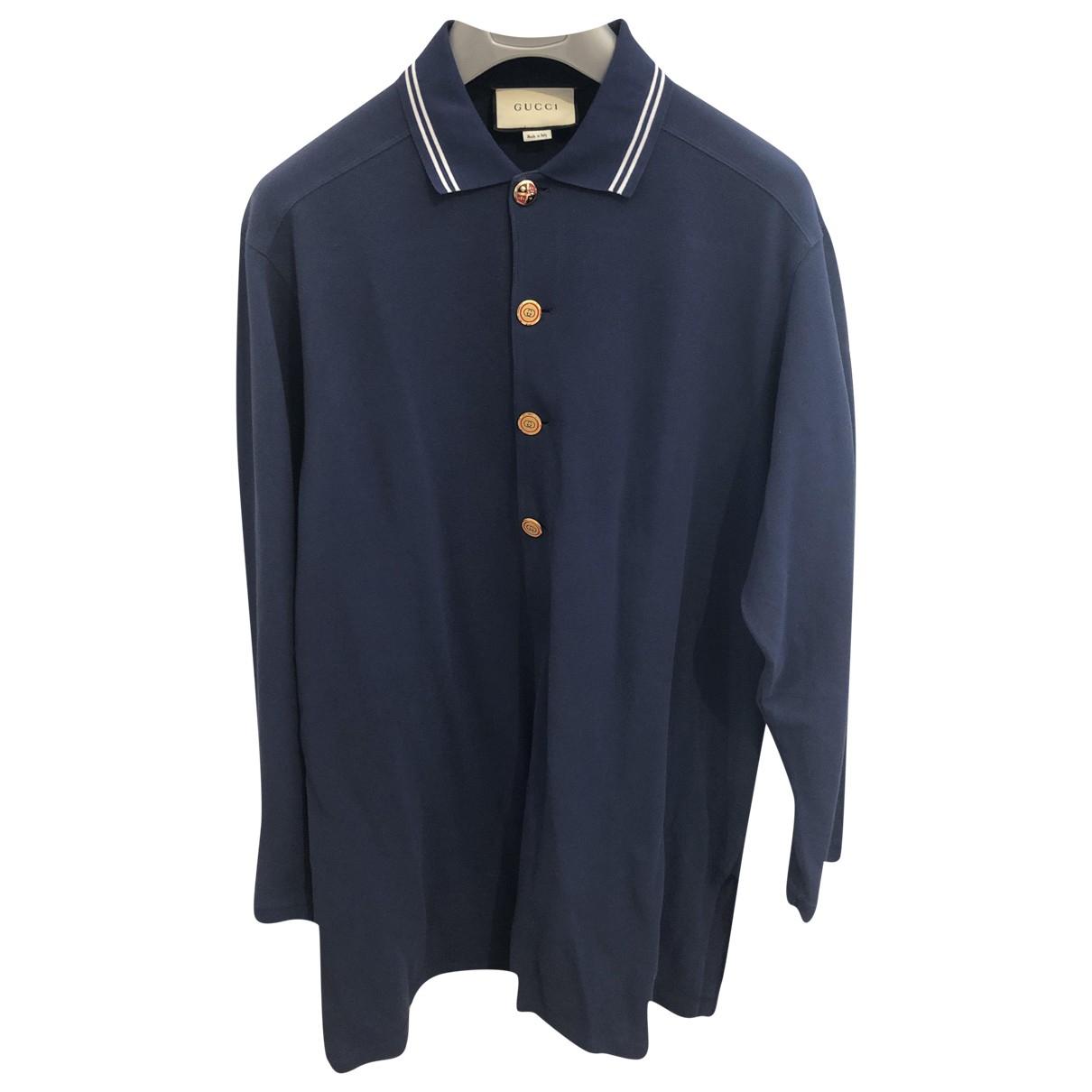 Gucci \N Navy Cotton Polo shirts for Men L International