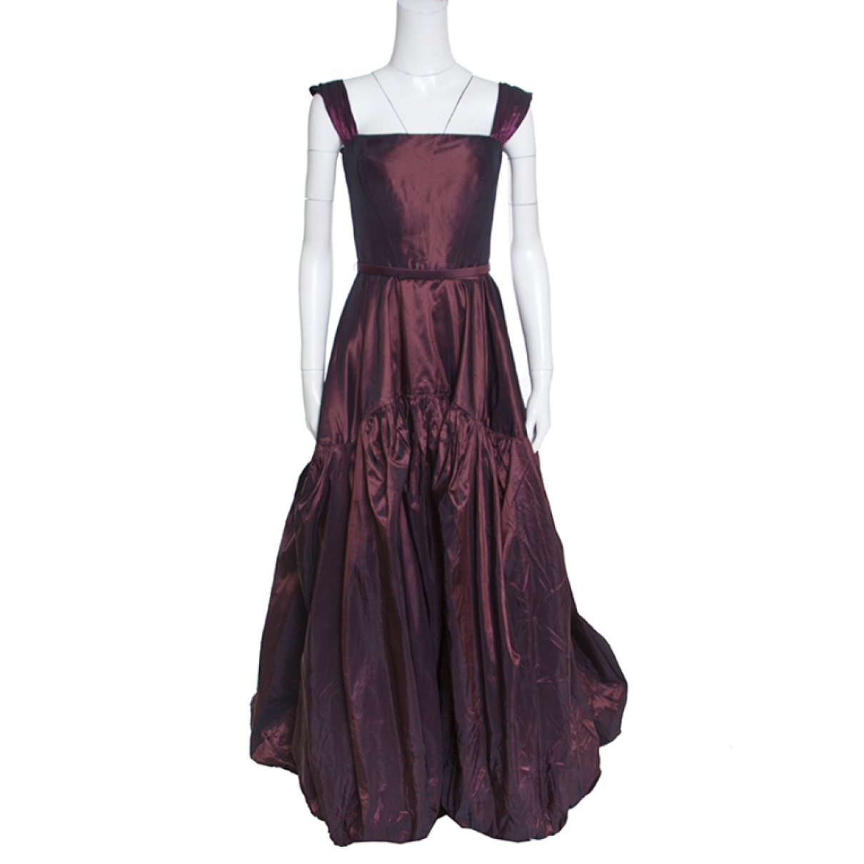 Oscar De La Renta N Burgundy Leather dress for Women 2 US