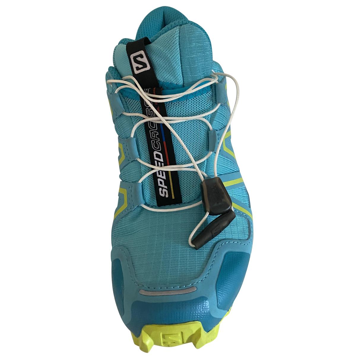 Salomon \N Sneakers in  Tuerkis Leinen