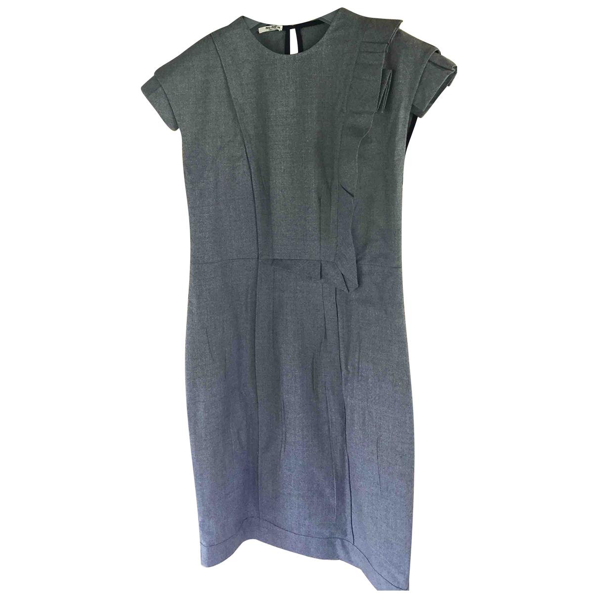 Miu Miu N Grey Wool dress for Women 38 IT