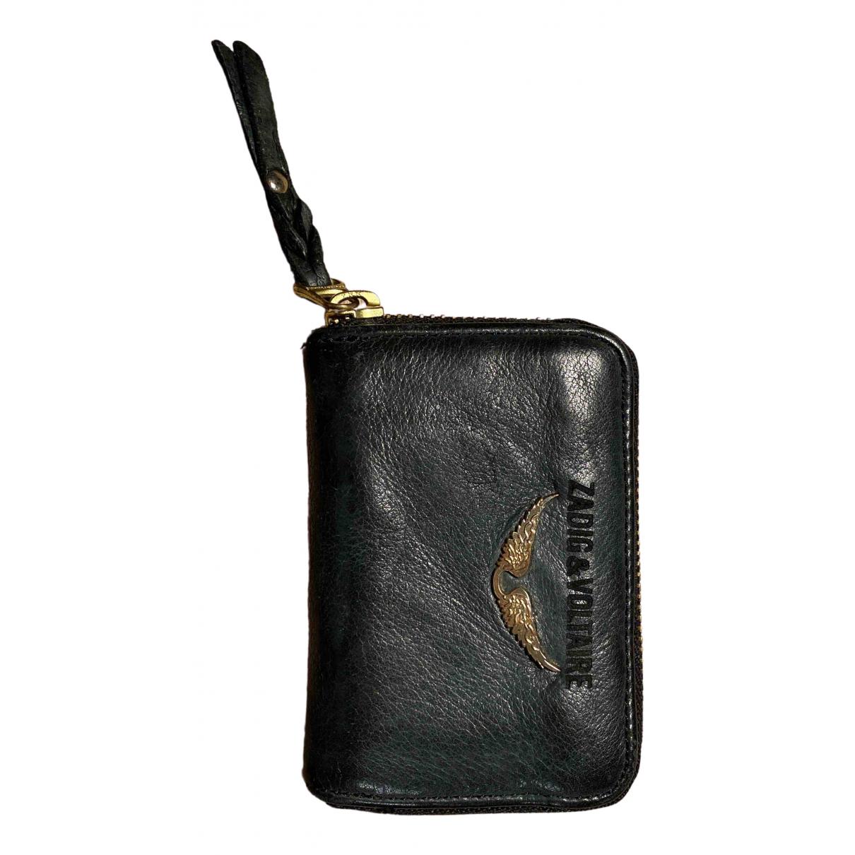 Zadig & Voltaire - Portefeuille   pour femme en cuir - noir