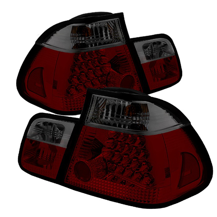 Spyder Auto ALT-YD-BE4602-4D-LED-RS Red Smoke Taillights BMW E46 330xi 4Dr 02-05