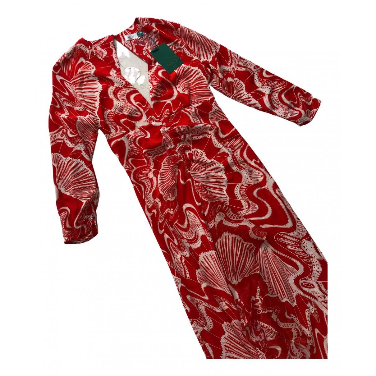 Rixo - Robe   pour femme en soie - rouge